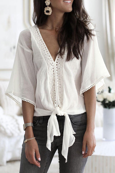 Veromoi Knot And Tassel Design Shirt