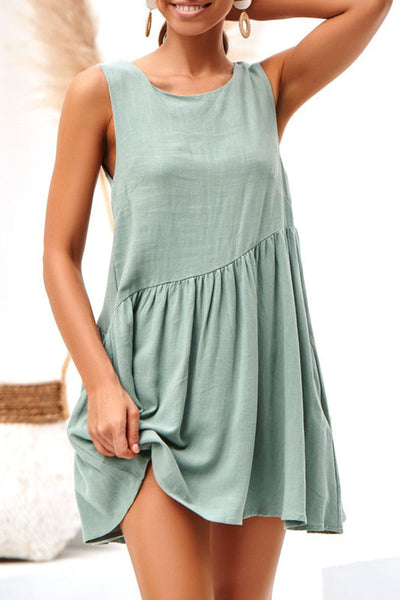 Veromoi Hollowed-out Sleeveless Mini Dress
