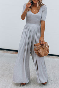 Veromoi Drape Design Loose Jumpsuit