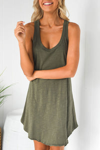 Veromoi Asymmetrical Tank Knee Length Dress