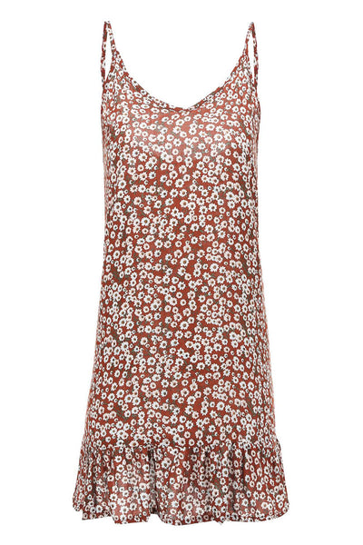 Veromoi Floral Printed Sleeveless Mini Dress