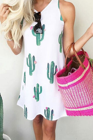 Veromoi Cactus Sleeveless Knee Length Dress