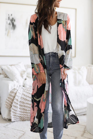 Veromoi Casual Printed Long Cover-up