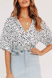 Veromoi Casual Dots Printed White Shirt
