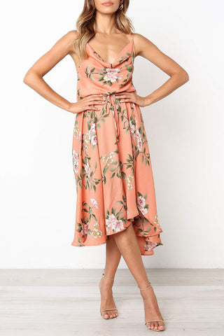 Veromoi Floral Printed Asymmetrical Midi Dress