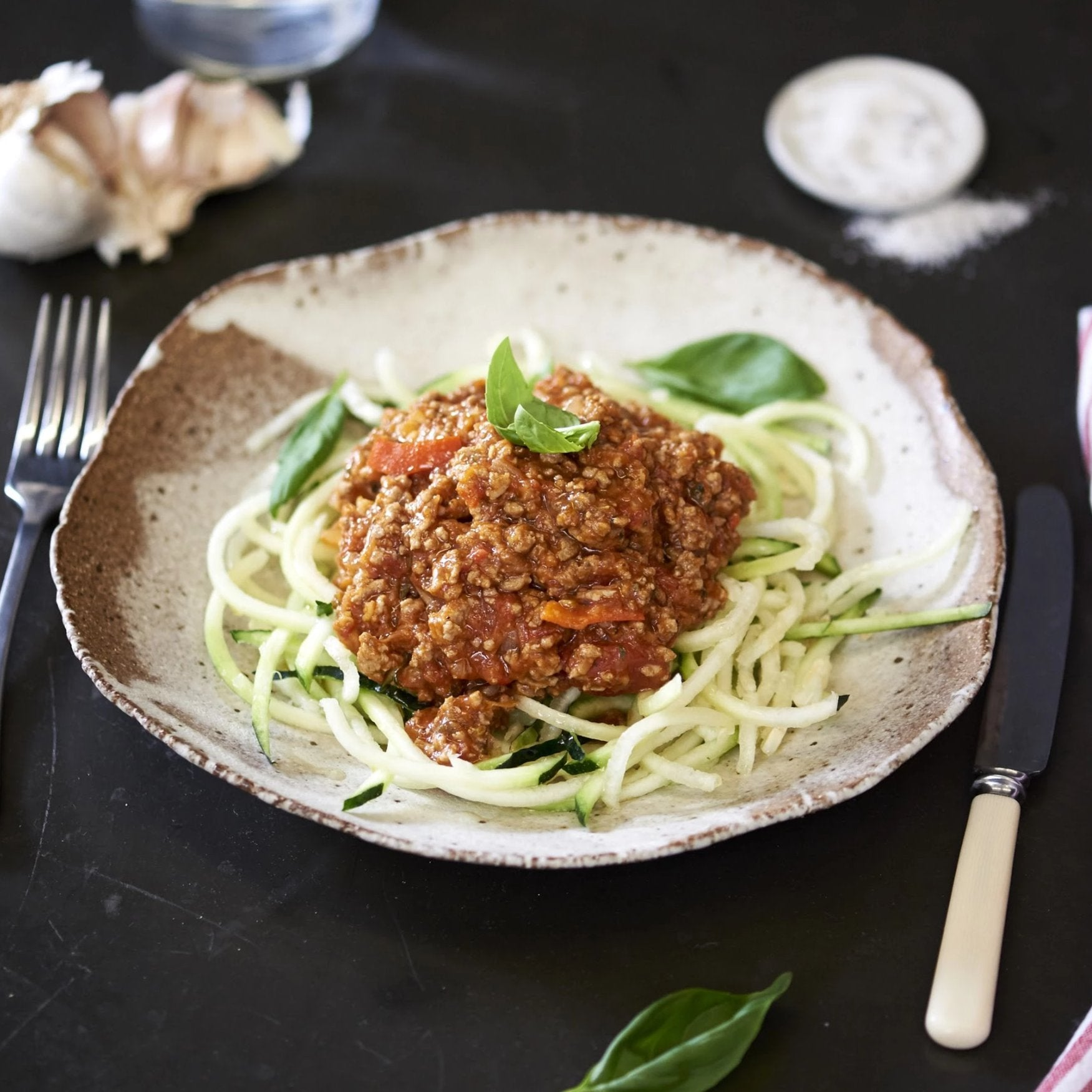 Turkey Mince Bolognese with Zucchini Pasta