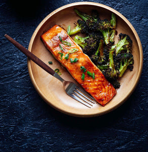 Salmon fillet with Brocolli