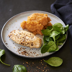 BBQ Chicken Breast with Sweet Potato Mash