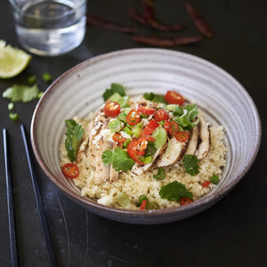 Chilli Chicken with Brown Rice - monkeyfoodz