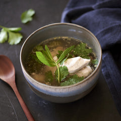 Chicken Bone Broth with Ginger Aromatics