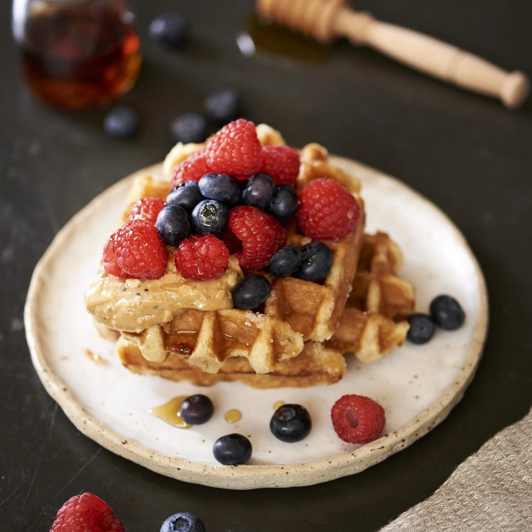 Healthy Pumpkin Waffles