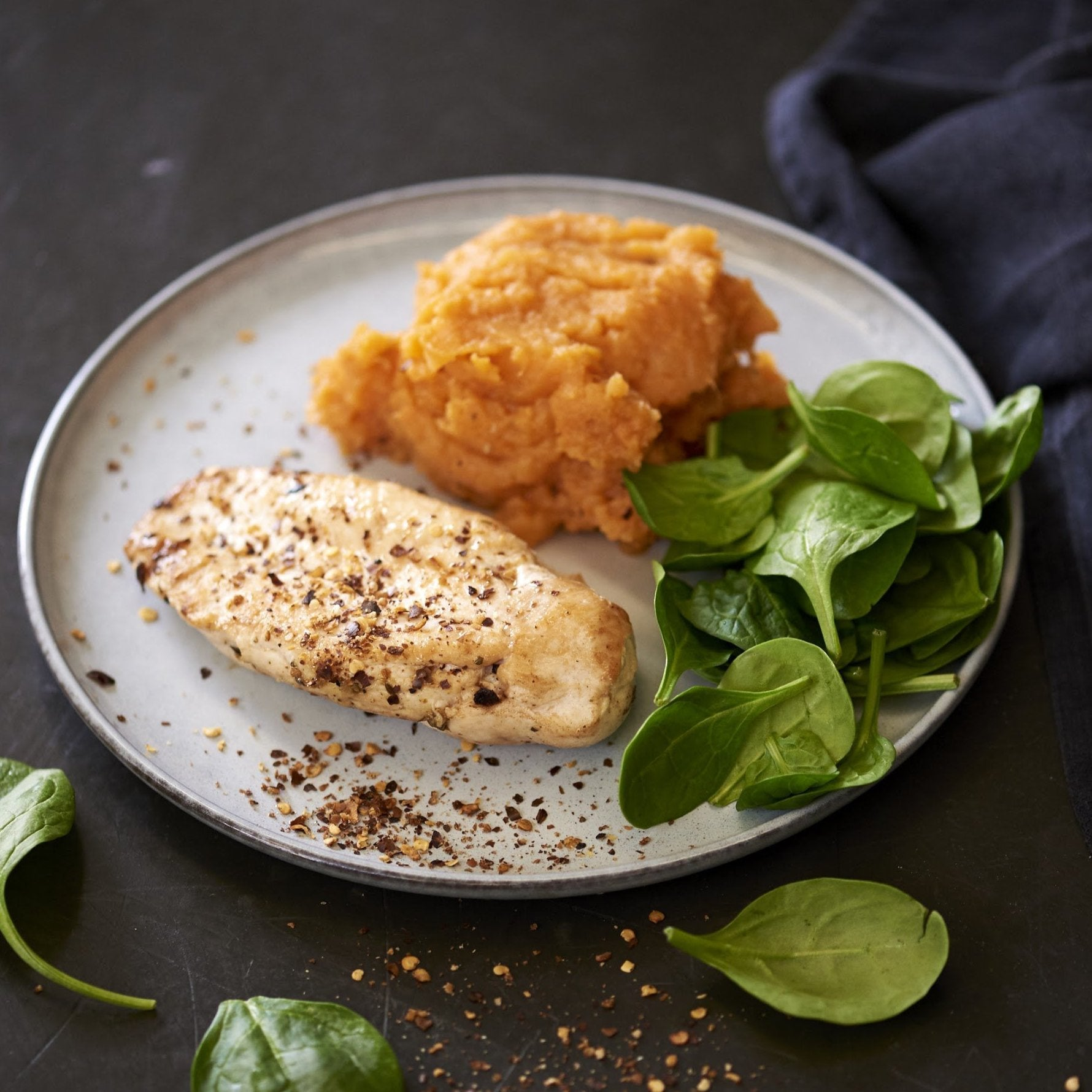 Cajun Chicken Breast with Roasted Pumpkin