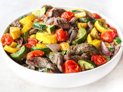 Beef Strips with Mediterranean Vegatebles
