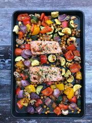 Salmon Fillet with Mediterranean Vegetables