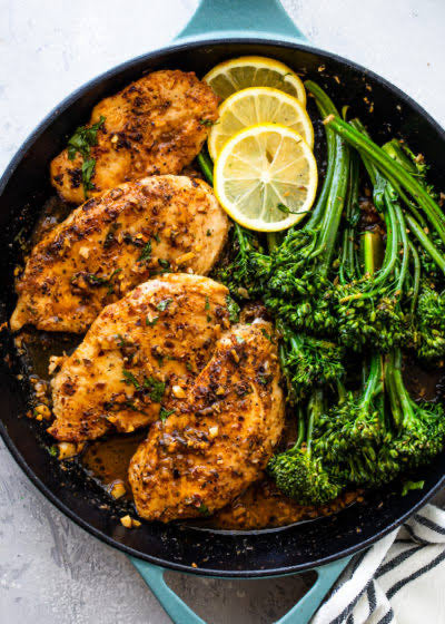 Grilled chicken with green beans and Broccoli - monkeyfoodz
