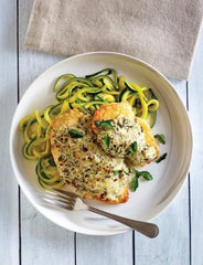 Grilled Chicken with Zucchini Pasta