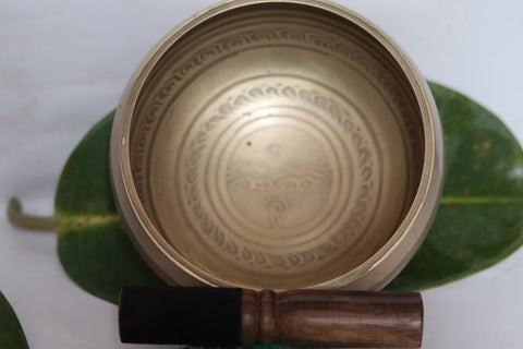 3- metal Carving Singing Bowl