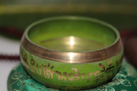 3- metal Om Mane Padme Hum Engraved Singing Bowl