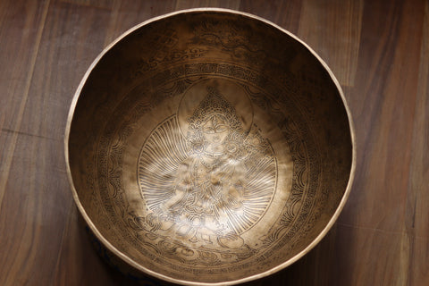 5- metal Singing bowl Thangka print