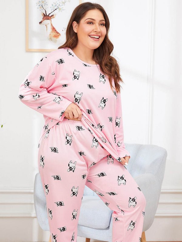 Plus Dog Print Pajama Set - Max and Maci's Store