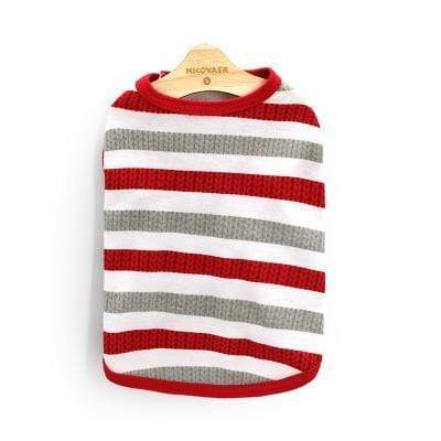 Max and Maci's Store 5 / L Striped Pet Clothing For Small or Medium Dog