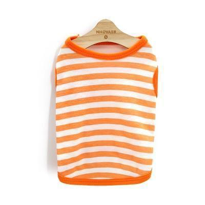 Max and Maci's Store 9 / L Striped Pet Clothing For Small or Medium Dog