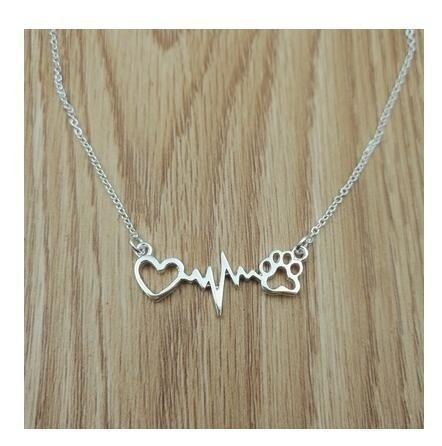 Cats And Dogs Heartbeat Necklaces - Max and Maci's Store