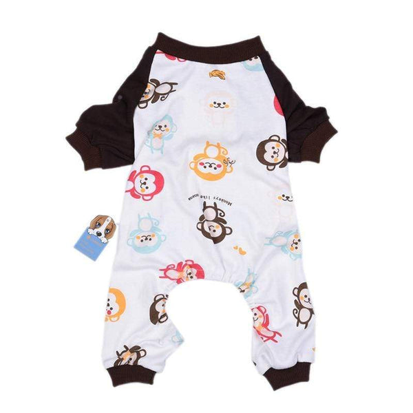 Cute Monkey Printing Dog Jumpsuits - Max and Maci's Store