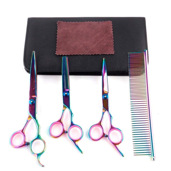 Max and Maci's Store Dog Accessories 7 Inch Professional Pet Grooming Scissors Set
