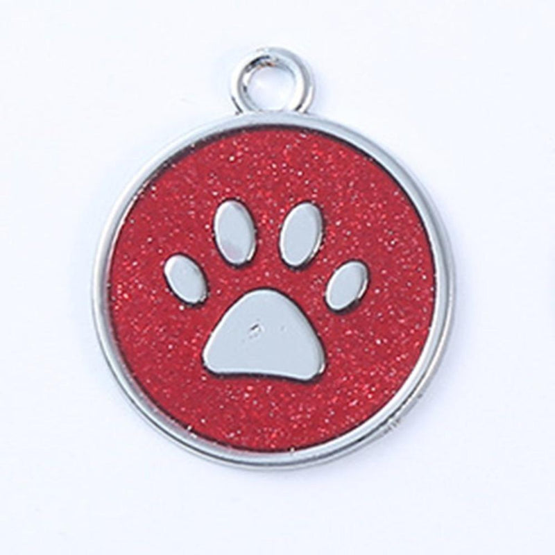 Max and Maci's Store Dog Accessories Cute Footprint Dog Tag Harness Identity Card