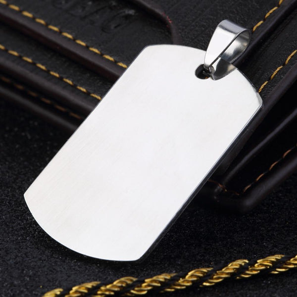 Fashion Military Men'S Stainless Steel Silver Plain Dog Tag - Max and Maci's Store
