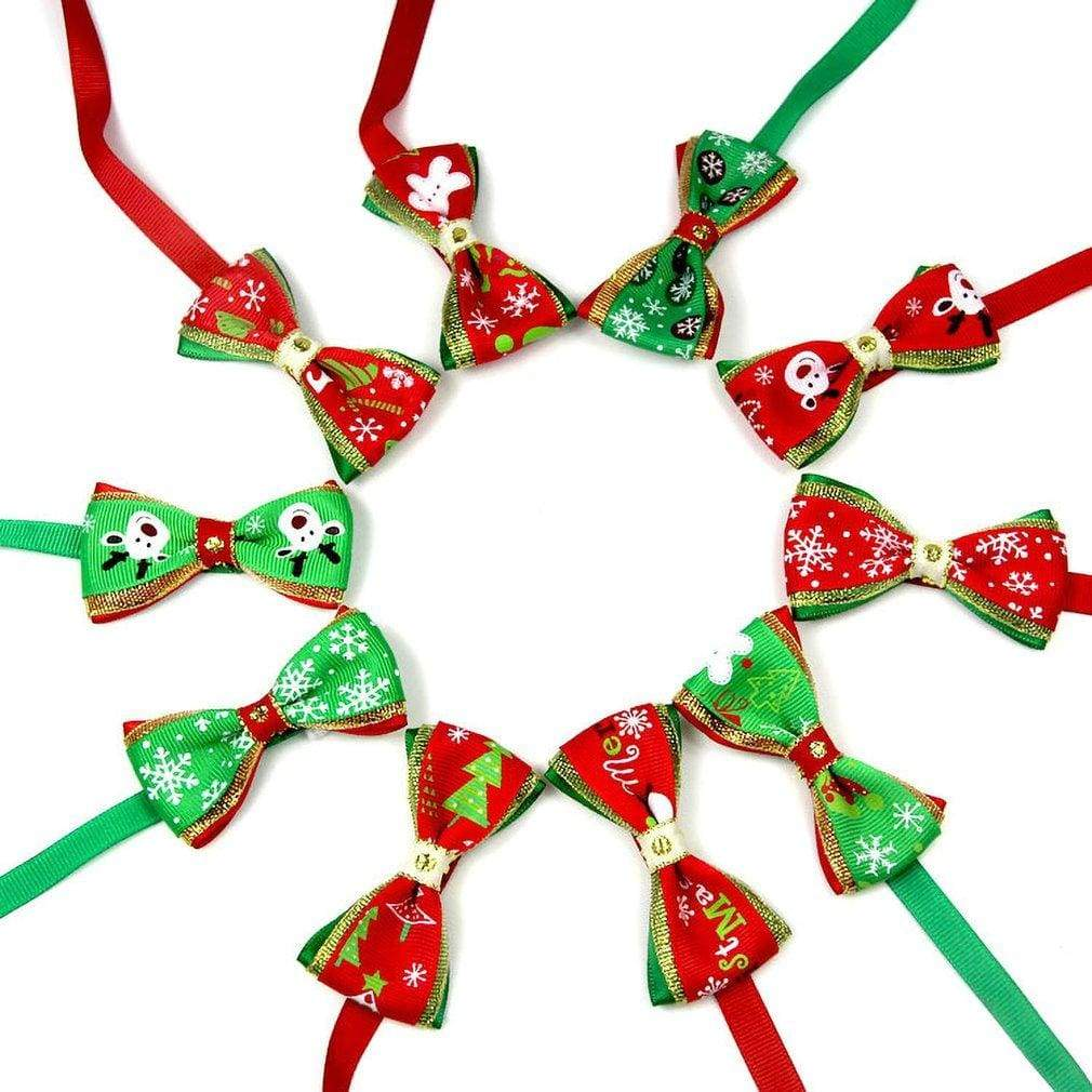 Max and Maci's Store Dog Accessories Multi / M 10PCS/SET Cute Christmas Pets Cats Dogs Tie