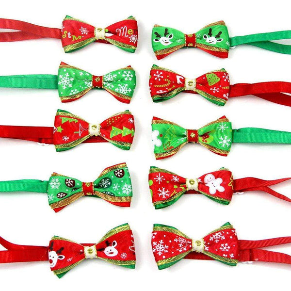 10Pcs/Set Cute Christmas Pets Cats Dogs Tie - Max and Maci's Store