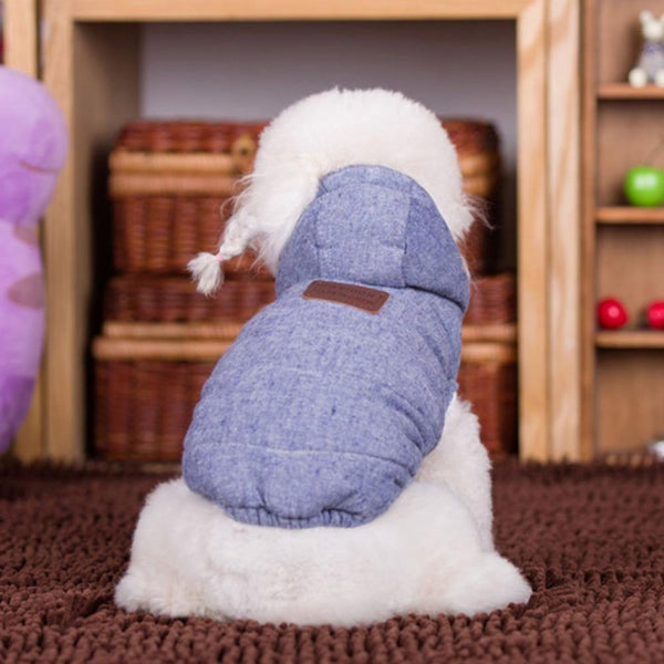 Autumn And Winter Warm Vest Dog Detachable Hooded - Max and Maci's Store