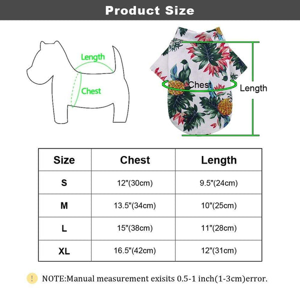 Spring Summer Dog Cotton Printed Shirts - Max and Maci's Store