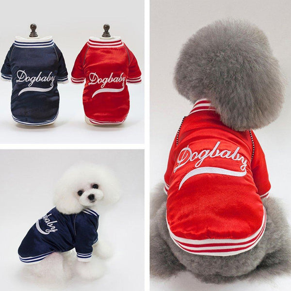 Winter Letter Embroidery Dog Baseball Coats - Max and Maci's Store