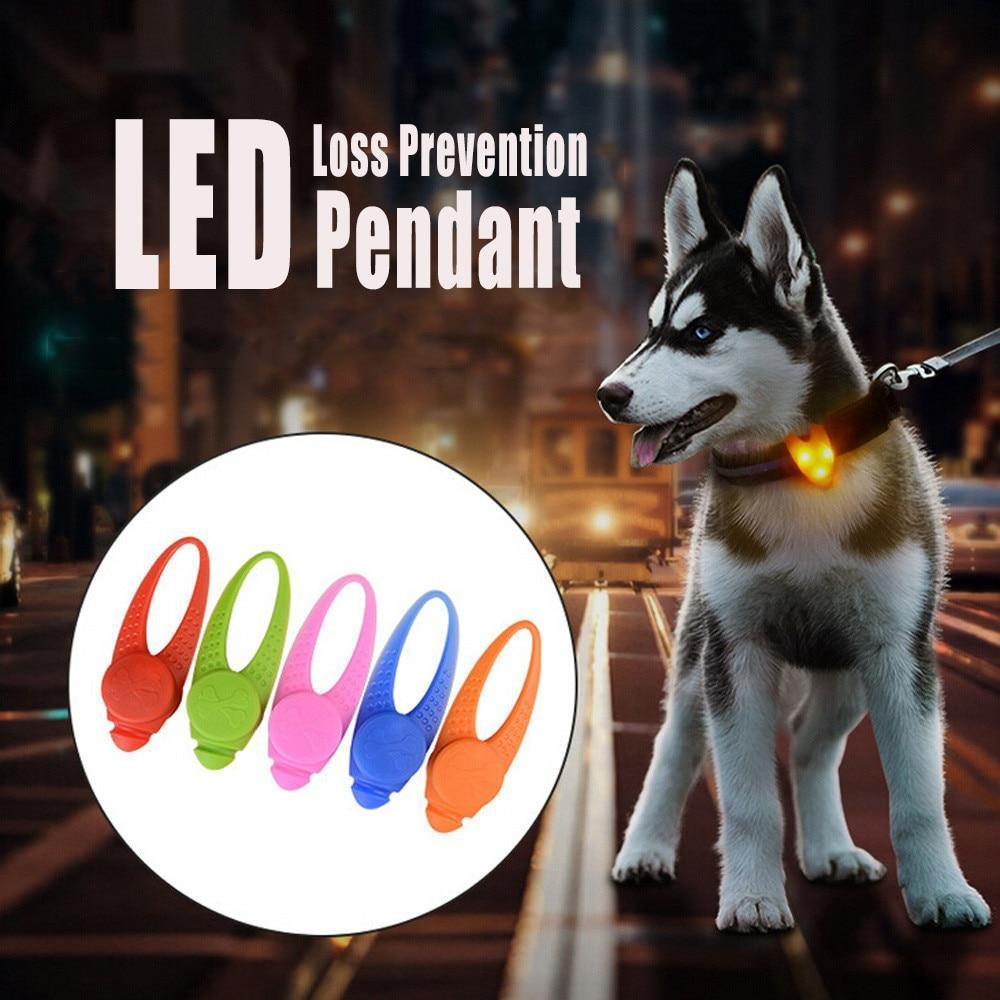 Max and Maci's Store Dog Collar 1Pcs Pet LED Pendant Safety Flashing Glow Light