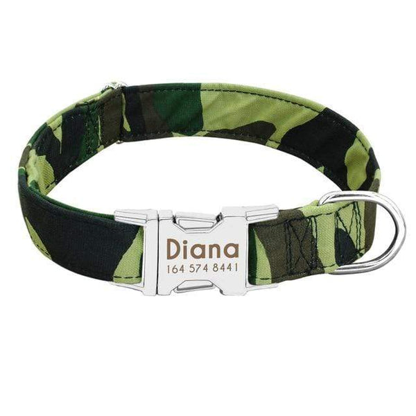 Personalized Nylon Dogs Collars Engrave Name Id - Max and Maci's Store