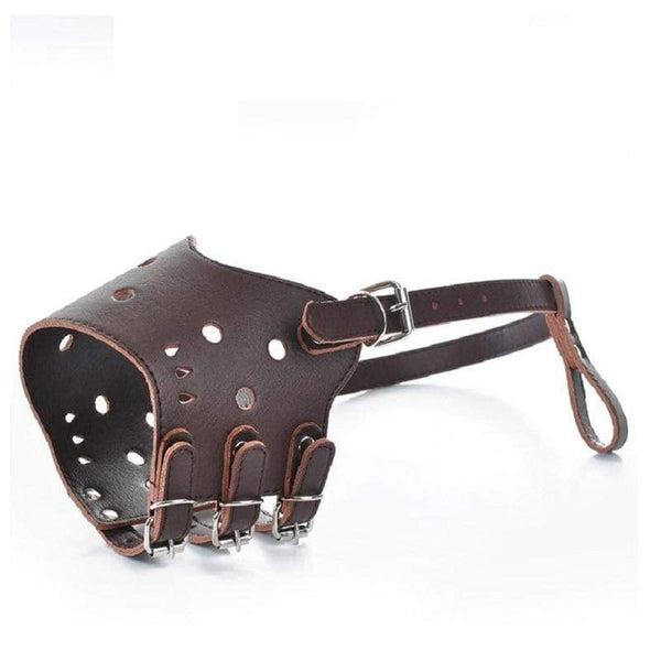 Adjustable Pu Leather Breathable Dog Muzzle - Max and Maci's Store