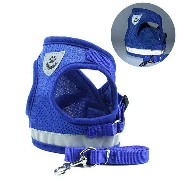Dog Harness Vest Reflective Adjustable Walking Lead Leash - Max and Maci's Store
