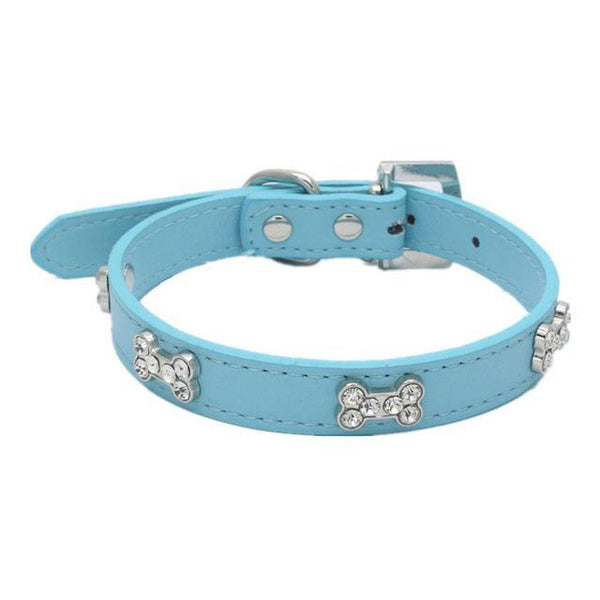 Dog Collar Crystal With Bone Necklace - Max and Maci's Store
