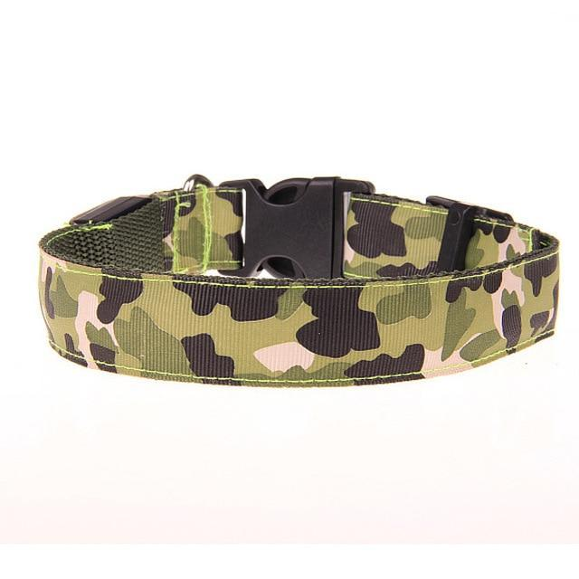 Max and Maci's Store Dog Collar E / S Anti-Lost Camouflage Led Light Dog Collar