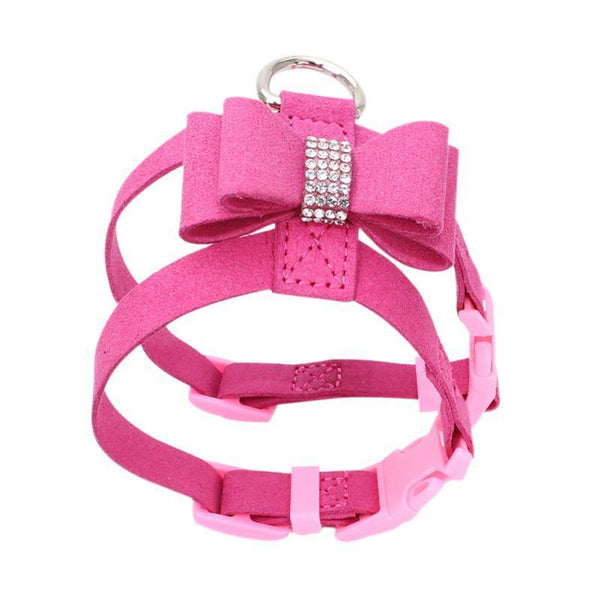 Dog Collar Pet Rhinestone Harness Leash - Max and Maci's Store