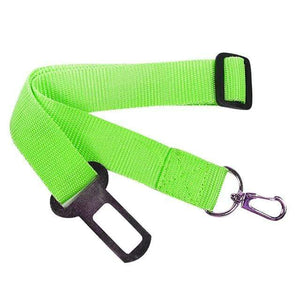 Max and Maci's Store Dog Collar green / Adjustable Adjustable 1 x Pet Safety Seat Belt