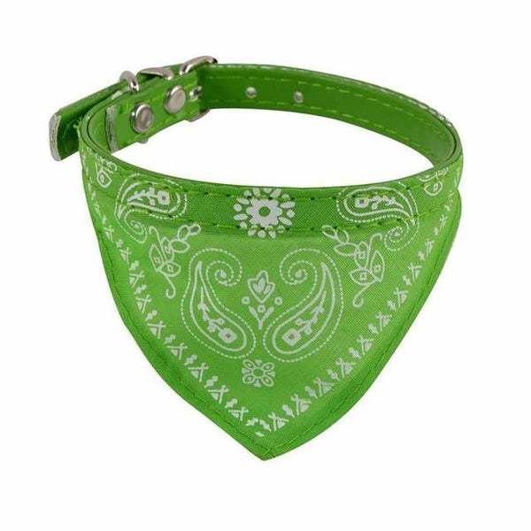 Max and Maci's Store Dog Collar Green / S Adjustable Pet Dog Puppy Cat Neck Scarf