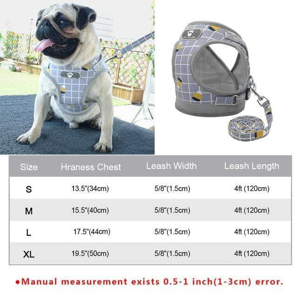 Reflective Dog Harness And Leash Set - Max and Maci's Store