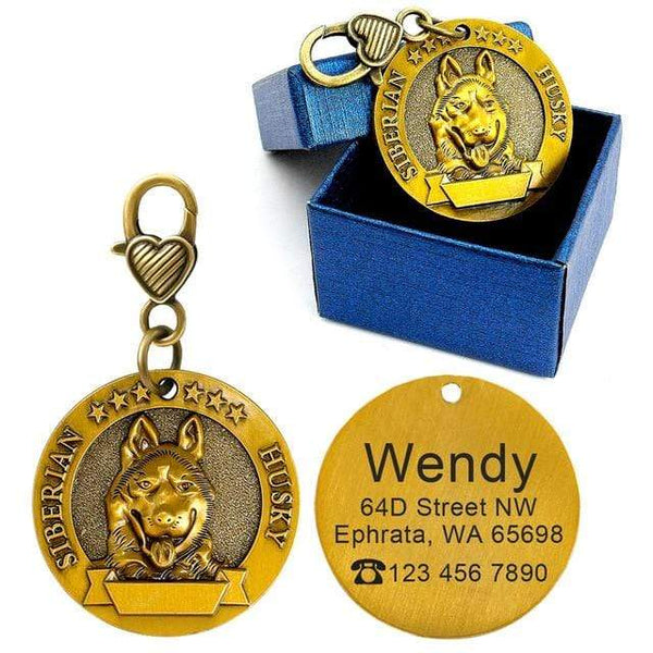 Engraved Personalized Metal Pet Dog Tags - Max and Maci's Store