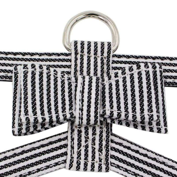 Oft Suede Fabric Fashion Stripe Leather Dog Harness - Max and Maci's Store