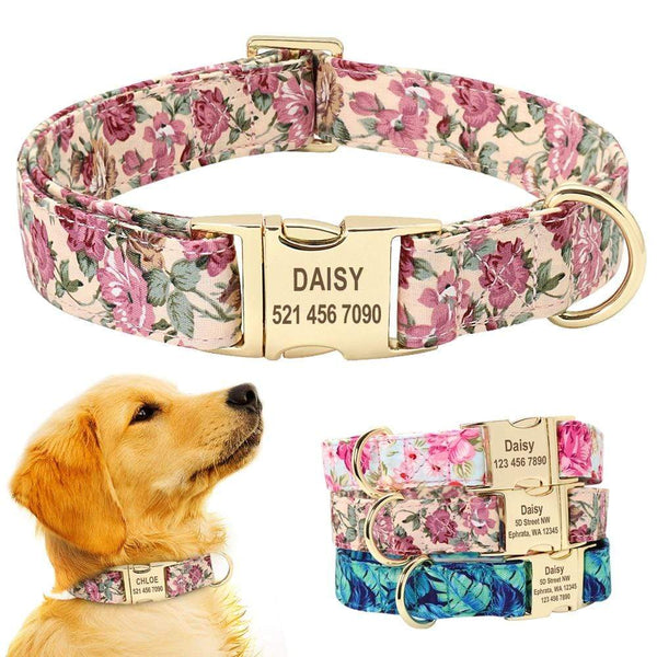 Personalized Collar For Nylon Dog Nameplate - Max and Maci's Store