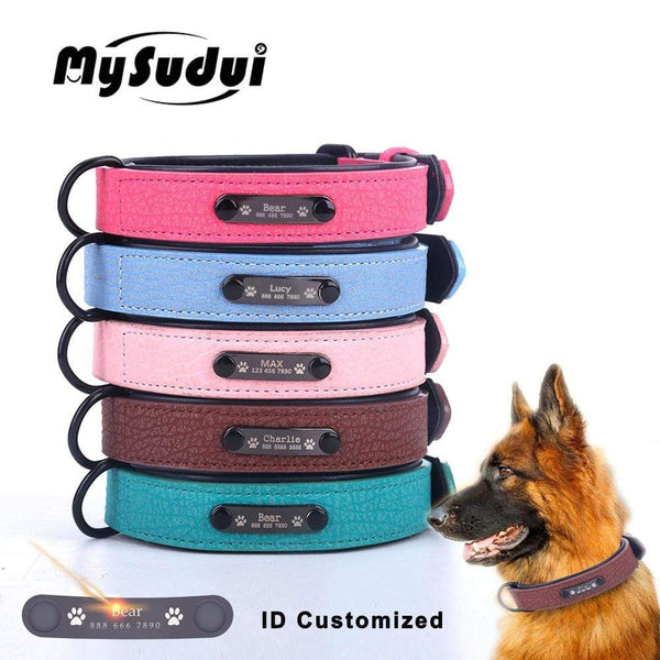 Personalized Custom Leather Dog Collar - Max and Maci's Store